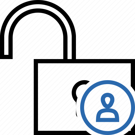 access, password, protection, secure, unlock, user icon
