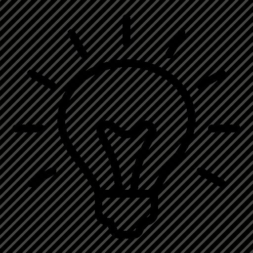bright, bulb, creative, education, idea, lightbulb icon