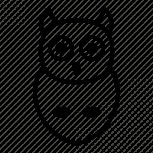 bird, education, owl, school, study, wisdom icon