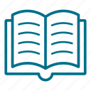 book, document, education, library, read, reading, type icon