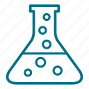 beaker, chemical, chemistry, education, flask, laboratory, test icon