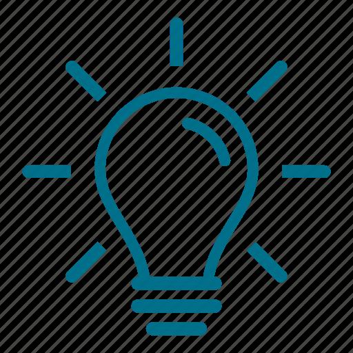 bright, bulb, creative, idea, imagine, lightbulb icon