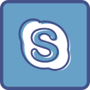 metro, outline, skype icon