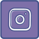 instagram, metro, outline icon