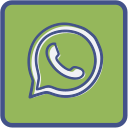 metro, outline, whatsapp icon