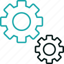 cogs, control, engine, gears, marketing, seo, setting icon