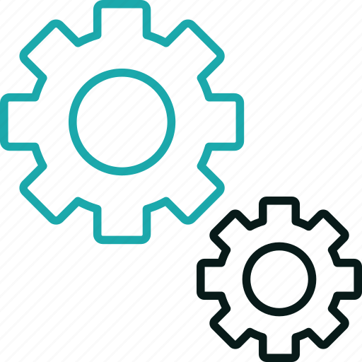 cogs, control, engine, gears, marketing, seo, setting icon