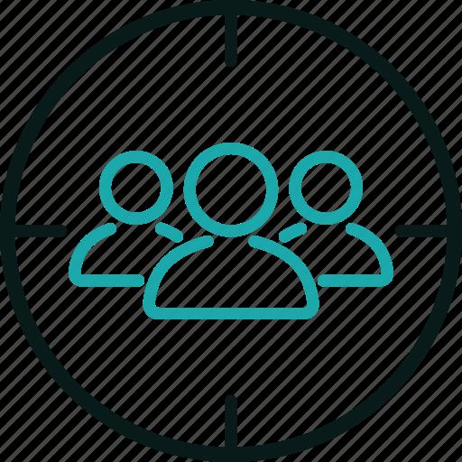 customer, find, focus, marketing, seo, traffic, users icon