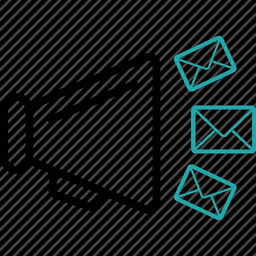 advertise, advertisement, emails, loudspeak, marketing, seo, speaker icon