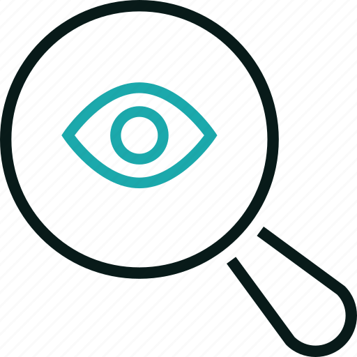 advertise, eye, find, marketing, search, seo, view icon