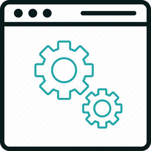apps, cogs, control, gears, setting, system icon