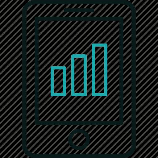 chart, marketing, phone, seo, smartphone, traffic icon