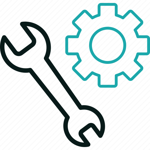 cog, engine, gear, repair, seo, tools, wrench icon