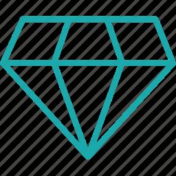 asset, base, diamond, gem, ruby, seo, value icon