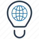 global, idea, seo solution icon