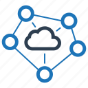 cloud, cloud computing, connection, network icon