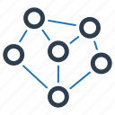 connection, connectivity, link, network sharing icon