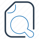 document, explore, file, file search icon