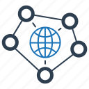 communication, connection, global, global connectivity, internet, network icon