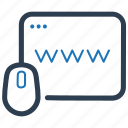 browser, domain, http, internet, link, url, web icon
