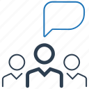 business, conversation, discussion, teamwork icon