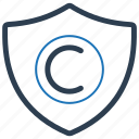 brand, copyright, protection, security icon