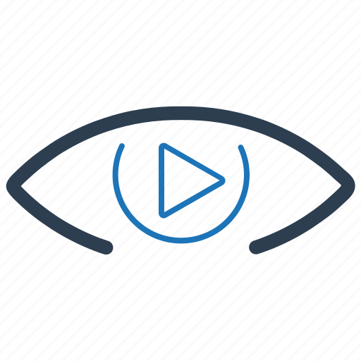 advertising, marketing, online video, video, watching icon
