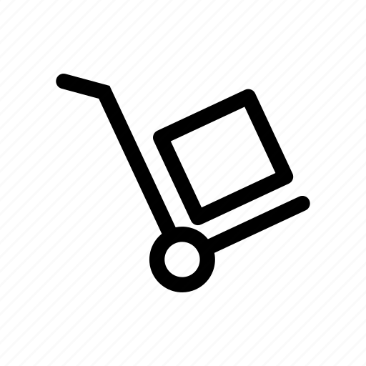 cart, delivery, delivery cart, dolly, package, shipping icon