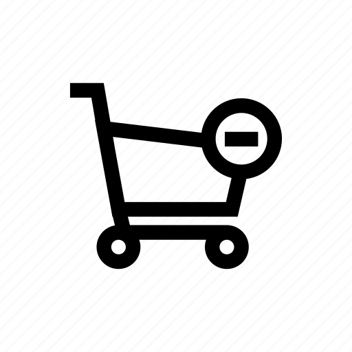 cart, online shopping, remove, shopping cart icon