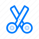 cutting, office, scissors, tool icon