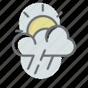 weather, cloud, sun, rain