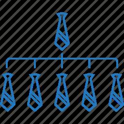 company, hierarchy, network, organization, professionals, union icon