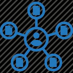accountability, contact, multitask, multitasking, split, support, tasks icon