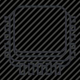 alu, central processing unit, core, cpu, electronicparts, i/o, microprocessor icon