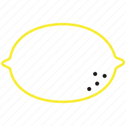 food, fruit, lemon, outline icon