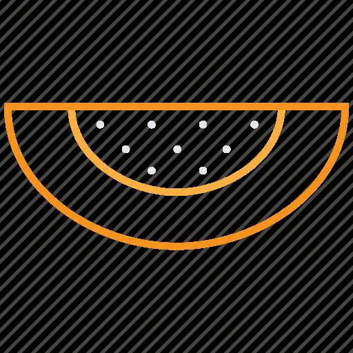 food, fruit, melon, outline icon