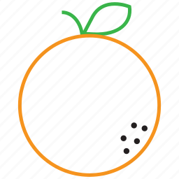 food, fruit, orange, outline icon