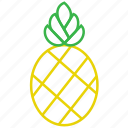 food, fruit, outline, pineapple icon