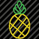 food, fruit, outline, pineapple