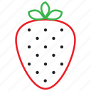food, fruit, outline, strawberry
