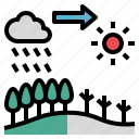 change, degradation, destroy, environment, forest icon