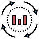 data, estimate, evaluate, process, statistic icon