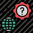 earth, error, global, problem, solution icon