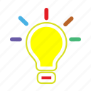 battery, bulb, electricity, idea, light, power icon