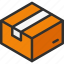 box, cardboard, close, isometric, package