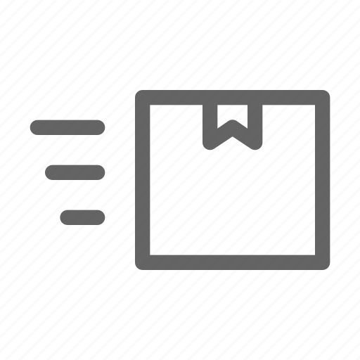 delivery, fast, package, shipping icon