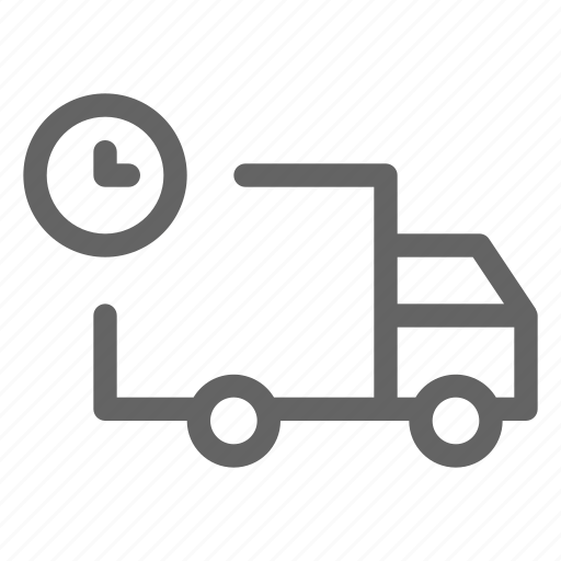 delivery, on time, package, shipping icon