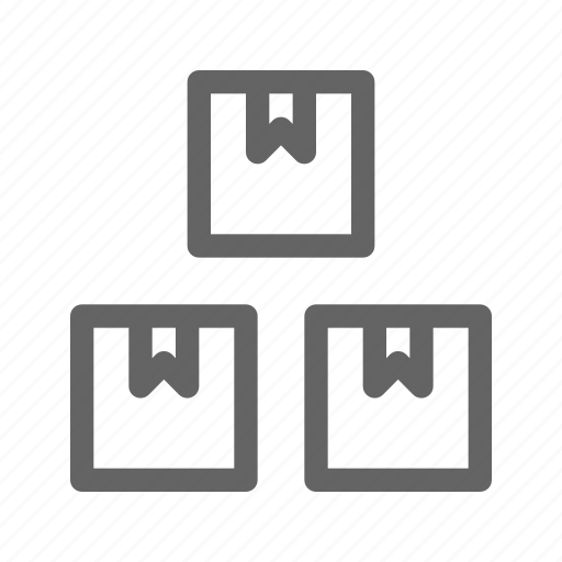 boxes, carton, packages, products icon