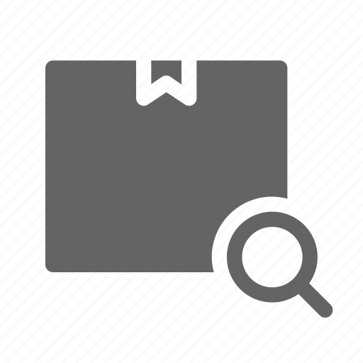 package, search, shipping, tracking icon