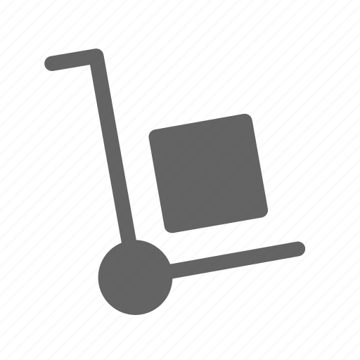 delivery, package, shipping, trolley icon
